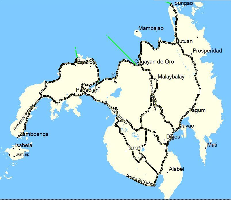 mindanao overview gps map